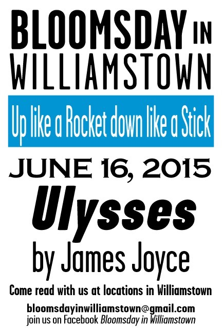 Bloomsday in Williamston 2015 Poster