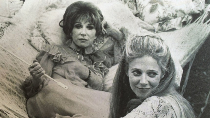 "Lee Grant and Blythe Danner in ""The Sea Gull,"" Williamstown Theatre Festival, 1974; by Anton Chekhov, directed by Nikos Psacharopoulos; photo by Stephen Nils Boyd"