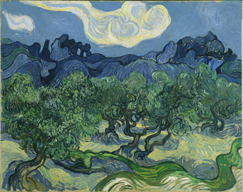 The Olive Trees, Vincent Van Gogh, 1889; oil on canvas;, Museum of Modern Art, New York