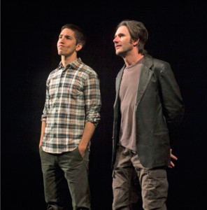"Josh Hamilton & Justin Long in ""An Intervention"" at the Williamstown Theatre Festival; photo by Paul Fox"