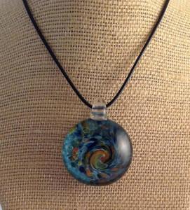 """""""Autumn Waters"""" pendant, by Jill Reynolds"""