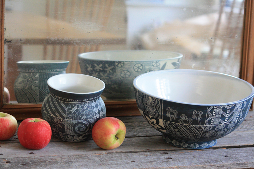 Bowls by Stephanie Boyd; photo submitted by the artist.