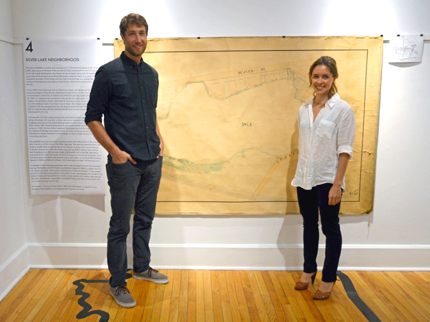 Tessa Kelly and Chris Parkinson, the two architects designing the writing studios for the In Motion: Pittsfield writing residency program; photo courtesy Tessa Kelly.