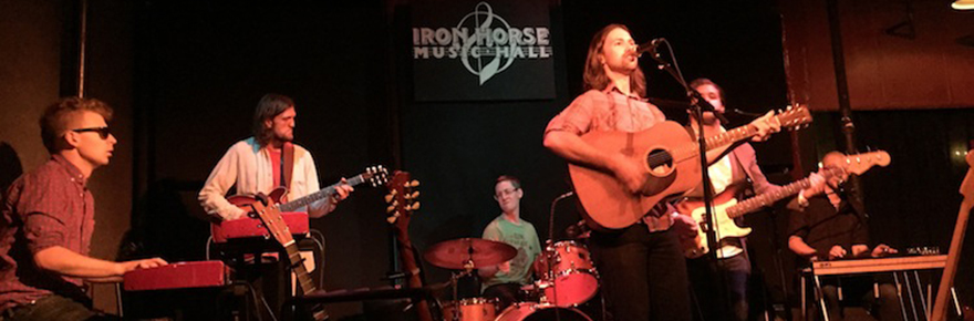 Justin Hillman and Good Company at The Iron Horse Music Hall; photo by Carly Rae.