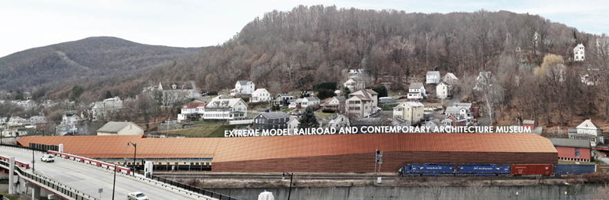 Artists Aerial Rendering of the proposed museum of Extreme Model Railroad and Contemporary Architecture; submitted photo.