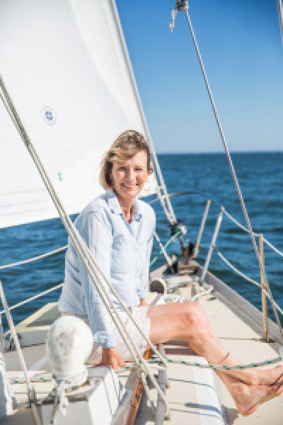 Jennifer Trainer Thompson still manages to keep one foot in the Atlantic sand when she's not in her chosen home in Western Mass. She will discuss Fresh Fish at the release party/signing event April 2 at 3:00 p.m. at Six Depot Roastery and Café. (photo/Joseph Keller)