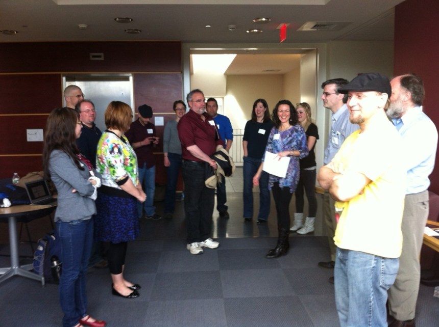 Break-out session: Introverts and Extroverts on social media; submitted photo.