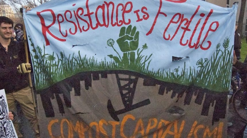 """Resistance is Fertile"" (photo by Lily Rhoads"