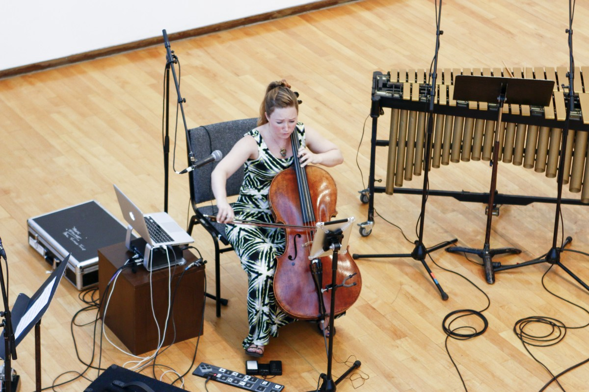 Ashley Bathgate performs the work of 2007 Festival alum Kate Moore; photo by W.S. Melnick.