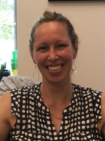 Amy Holzapfel, Chair, Associate Professor of Theatre; photo by Jason Velázquez.