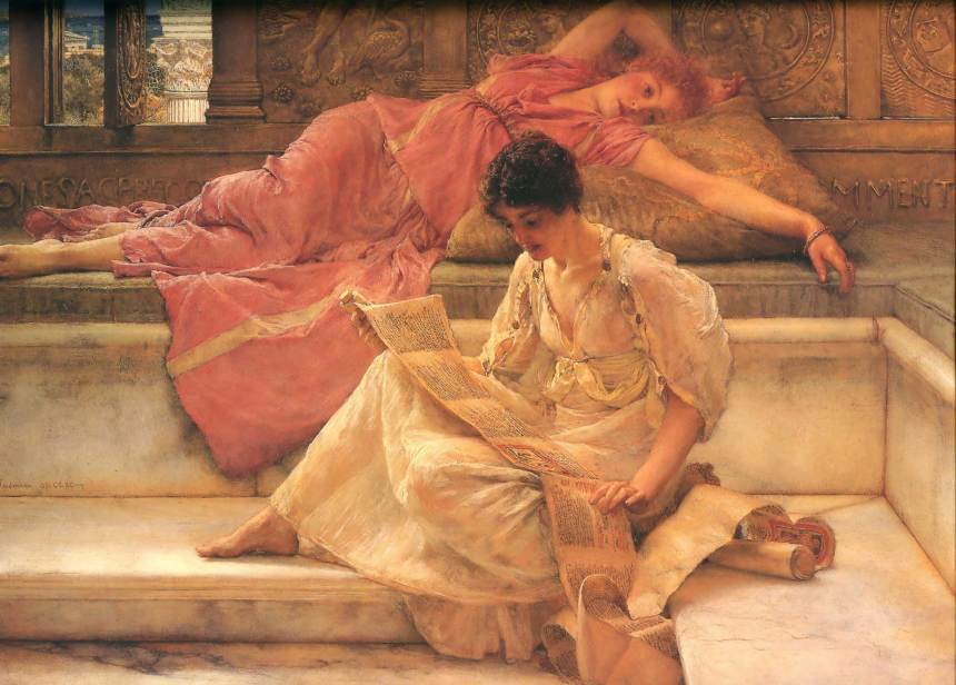 """""""The Favourite Poet,"""" Oil on canvas, 1888, Sir Lawrence Alma-Tadema (1836-1912)"""