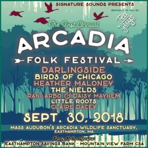 First-ever Arcadia Folk Festival — September 30, 2018.
