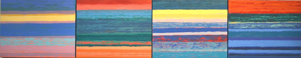 Sarah Sutro, Landscape Composite #6, 2015. Acrylic on Canvas [source: Gallery 51]