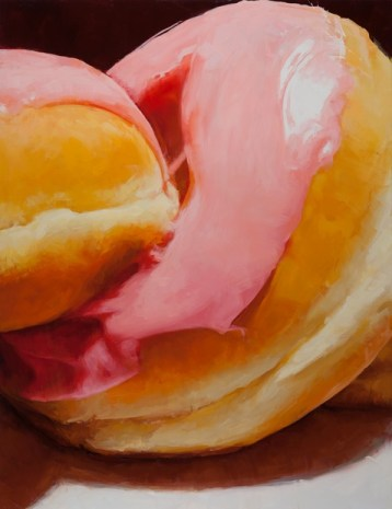 Emily Eveleth, Big Pink, 2016, oil on canvas, [Source: the Artist and Danese/Corey, New York] on view: Like Sugar, Tang Teaching Museum
