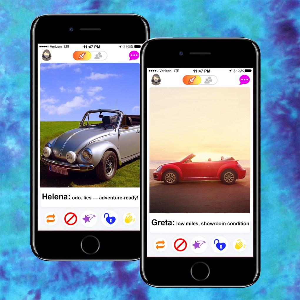 Dating app, Bumper, pixelmanced by Jason Velázquez.