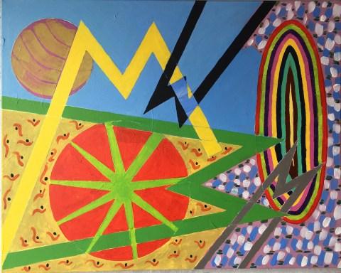 "Enough Said, II,, Jane Hudson; acrylic on canvas, 24"" × 30"", [source, the artist]."