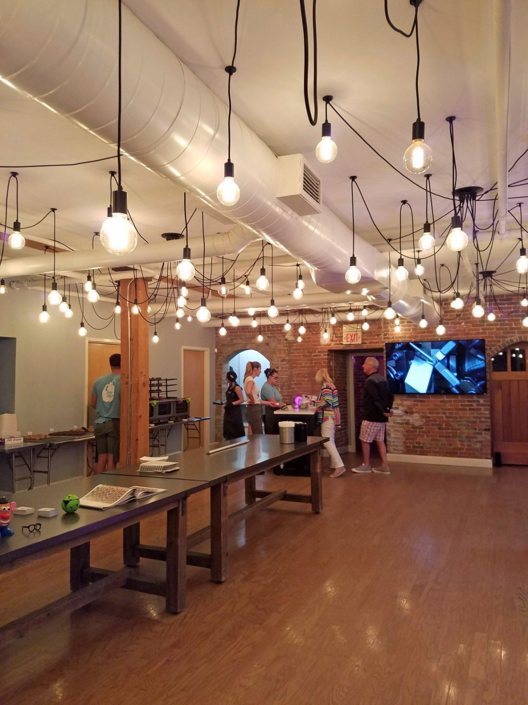 The sparse, roomy interior at Goodnight Fatty may subconsciously convince patrons that there's always room for a cookie or five; photo by Robin Catalano.