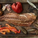 Smoked bluefish and vegetables; photo by Keller + Keller Photography.