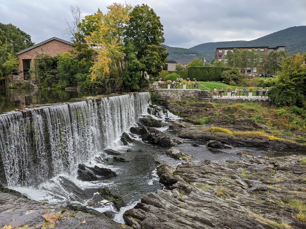 Photo of Fishkill Creek in Beacon rushes into this scenic waterfall in front of the Roundhouse