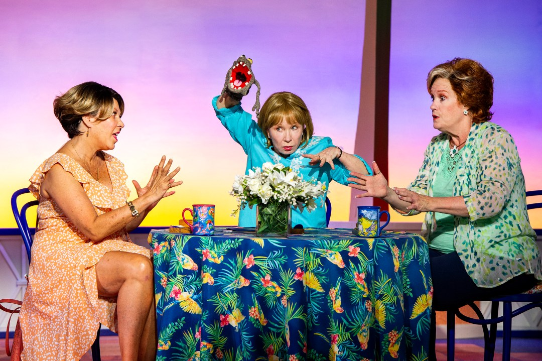April Ortiz, Debra Jo Rupp and Peggy Pharr Wilson in Boca, by Jessica Provenz, directed by Julianne Boyd, playing Outdoors at the BSC Production Center now through August 29; photo by Daniel Rader.