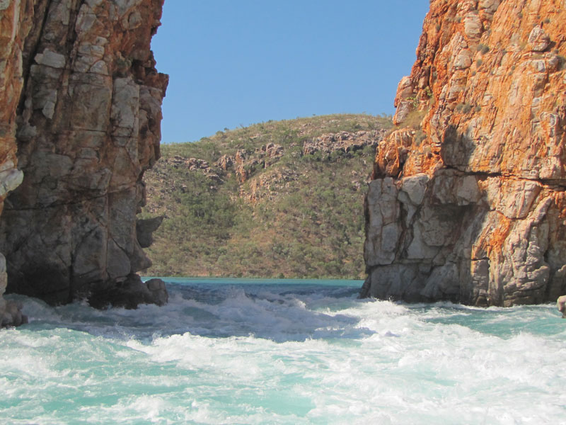 Horizontal Falls from the boat