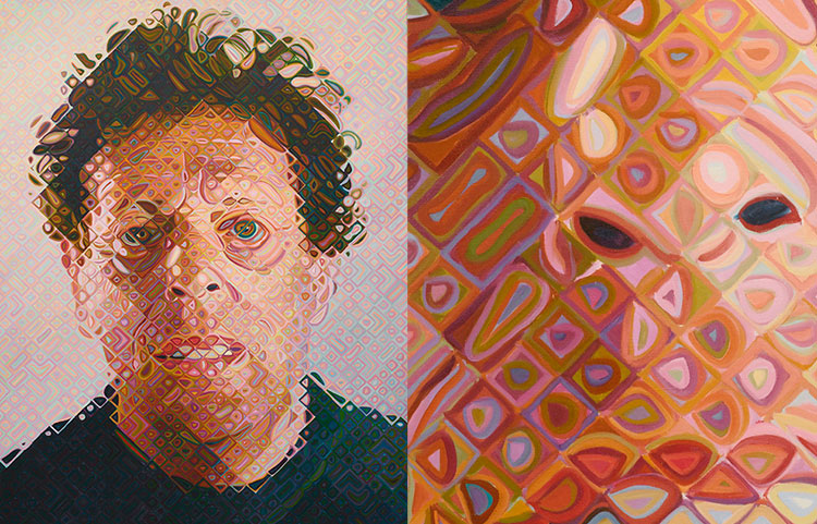 Chuck Close - Phil (2011-12) - work & detail