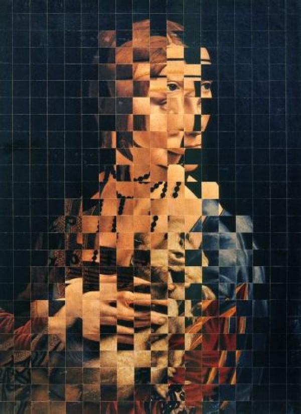 Jiri Kolar - Collage with an ermine