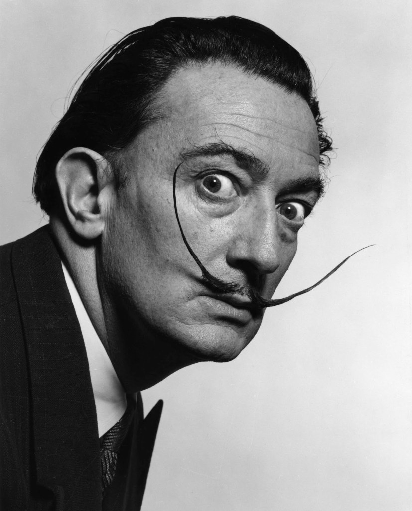 Dali's Mustache - photo by Philip Halsman, 1954