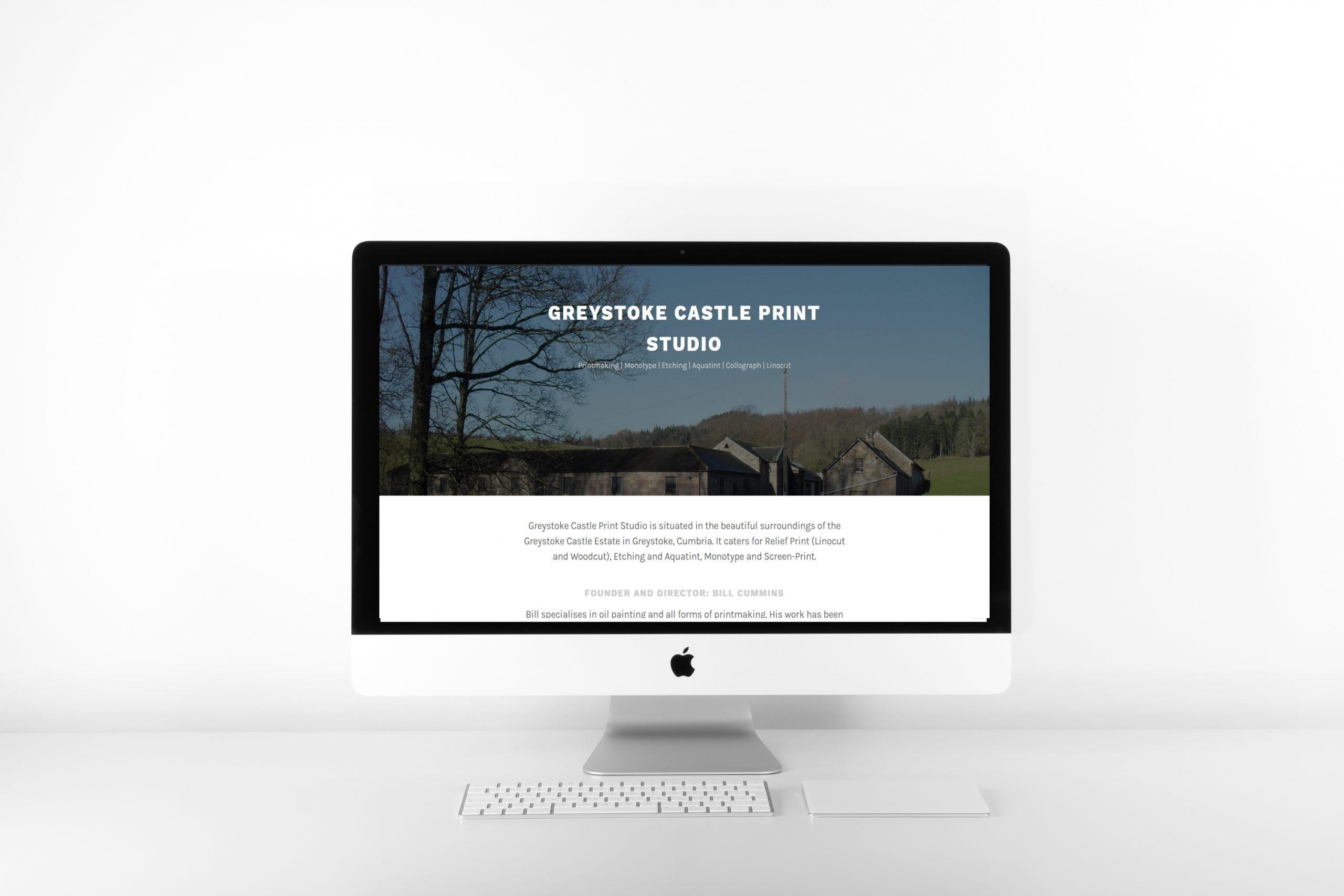 Greystoke Castle Print Studio Home Page WordPress Website Design