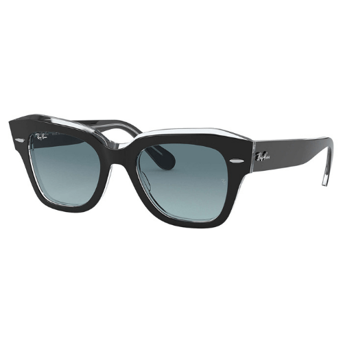 Ray-Ban - State Street Grey on transparent blue