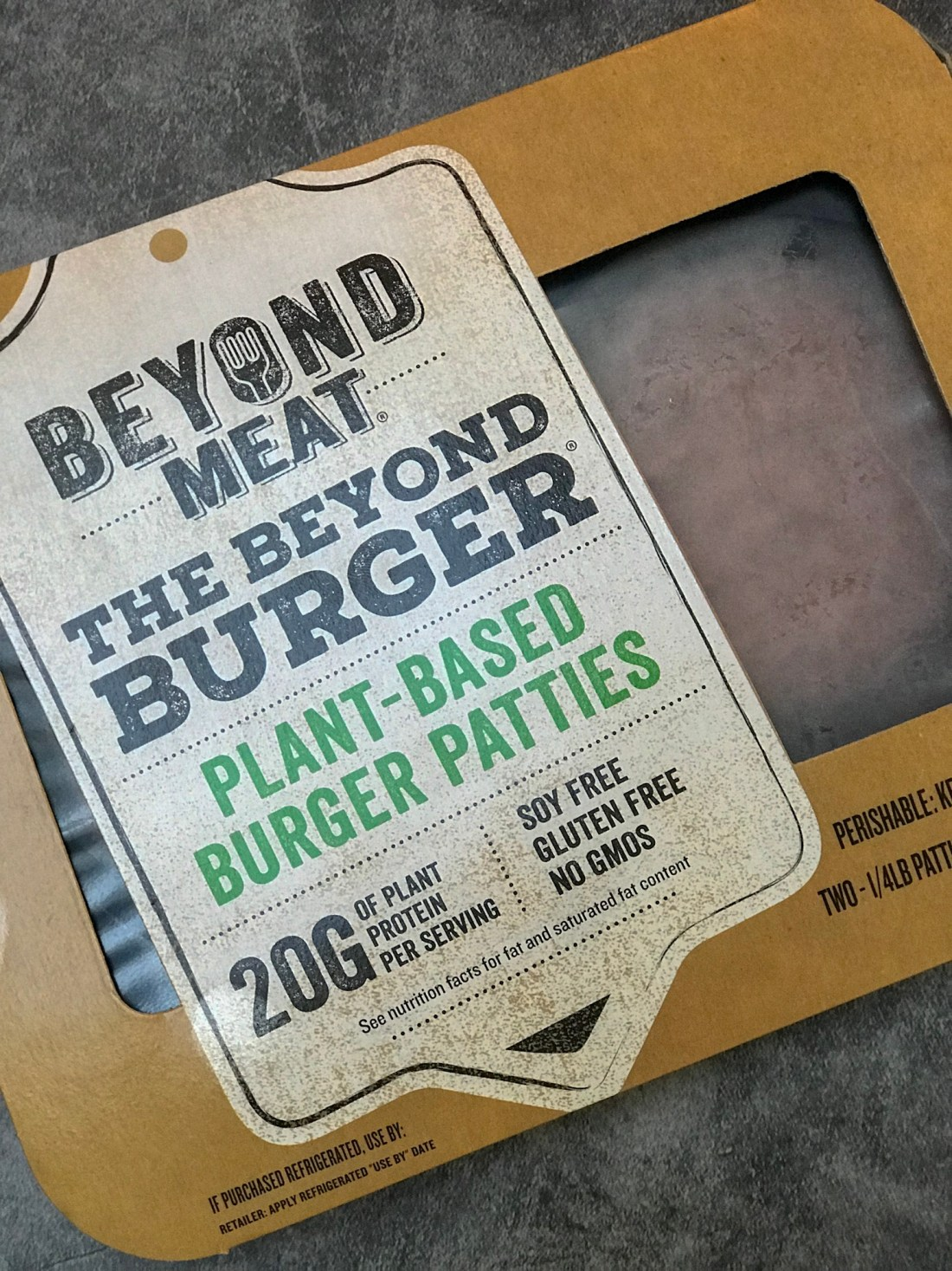 The plant based burger