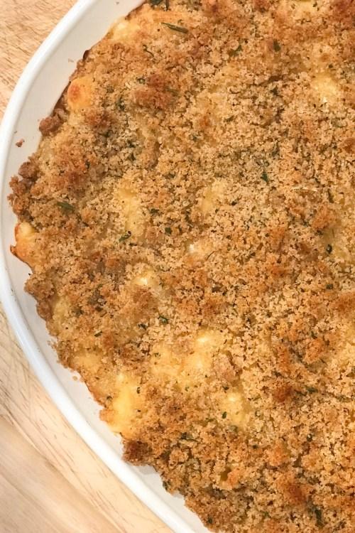 Mac & Cheese with Garlic Breadcrumbs