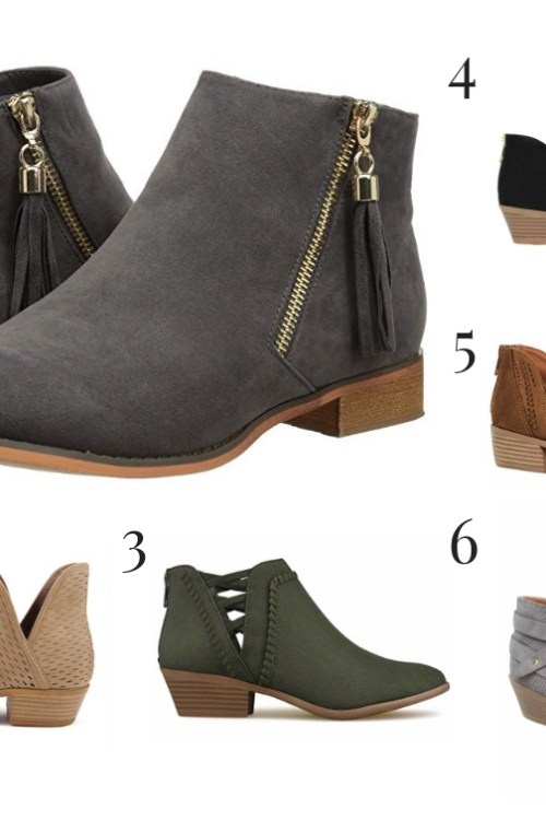 Affordable Fall Ankle Boots