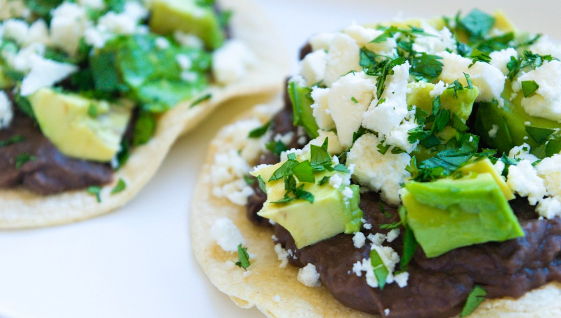 Black Bean & Avocado Tostada