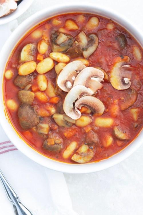 White Bean & Mushroom Stew