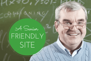 Senior smiling about accessibility of web site