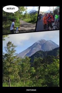 Gunung Merapi dari jalan Turgo Januari 2015