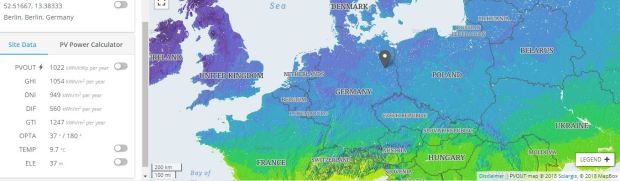 Berlin Solar Energy potential