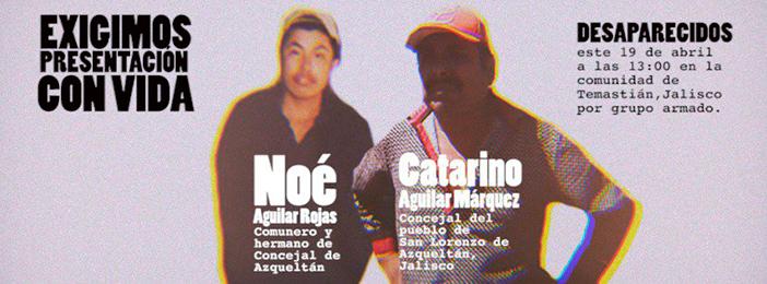 Hombres armados levantan a dos comuneros de Jalisco; el CNI exige su presentación con vida