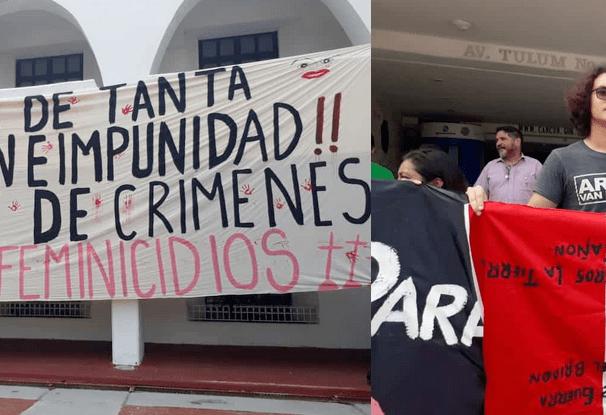 Estudiantes protestan por violencia y feminicidios en Cancún