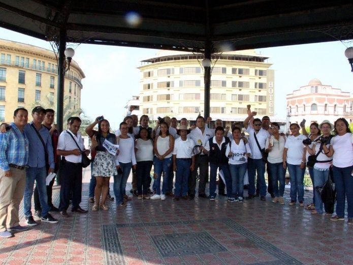 Protestan periodistas en Tamaulipas