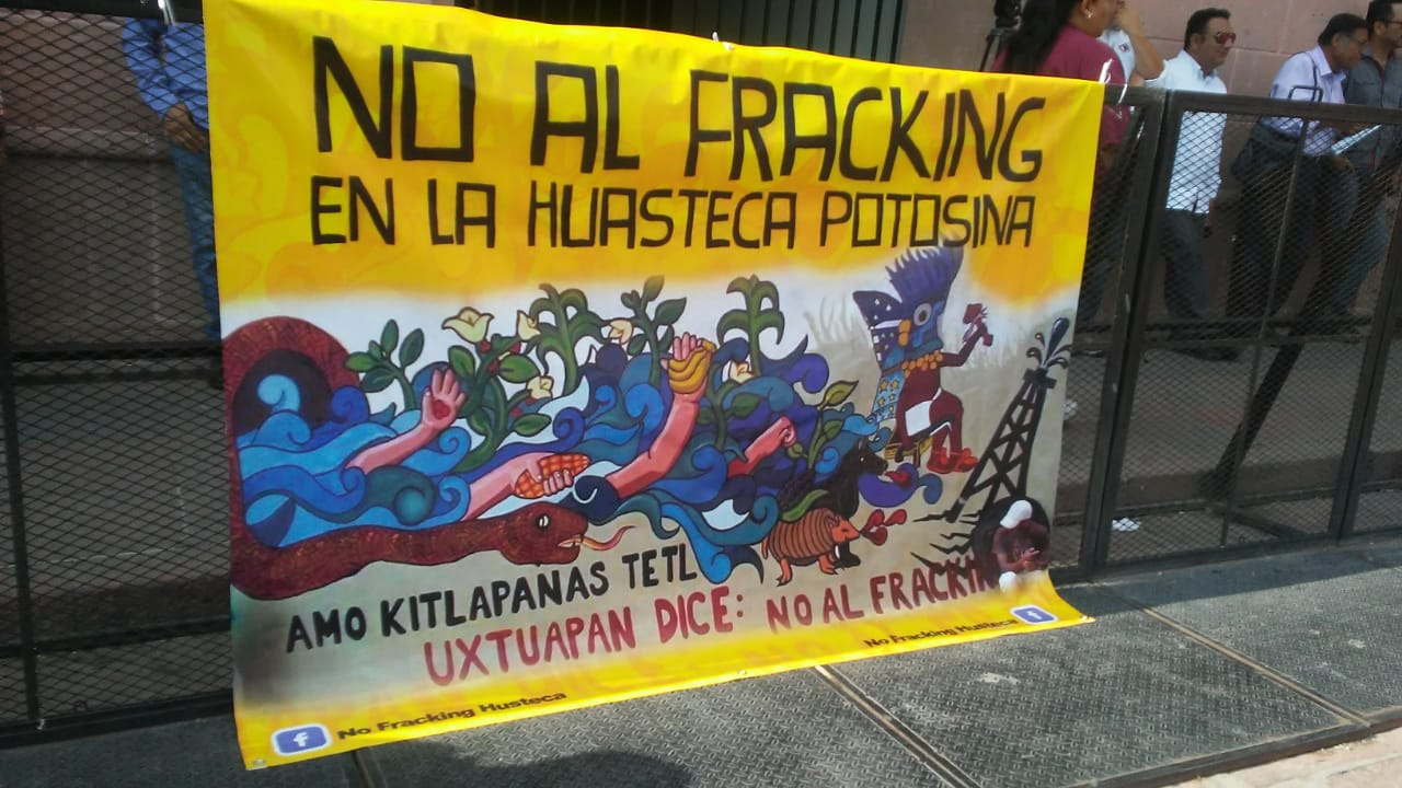 Manifestantes contra fracking critican a Gobierno del Estado (San Luis Potosí)