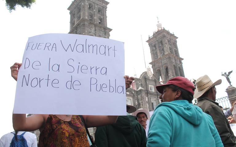 Protestan en Puebla contra megaproyectos