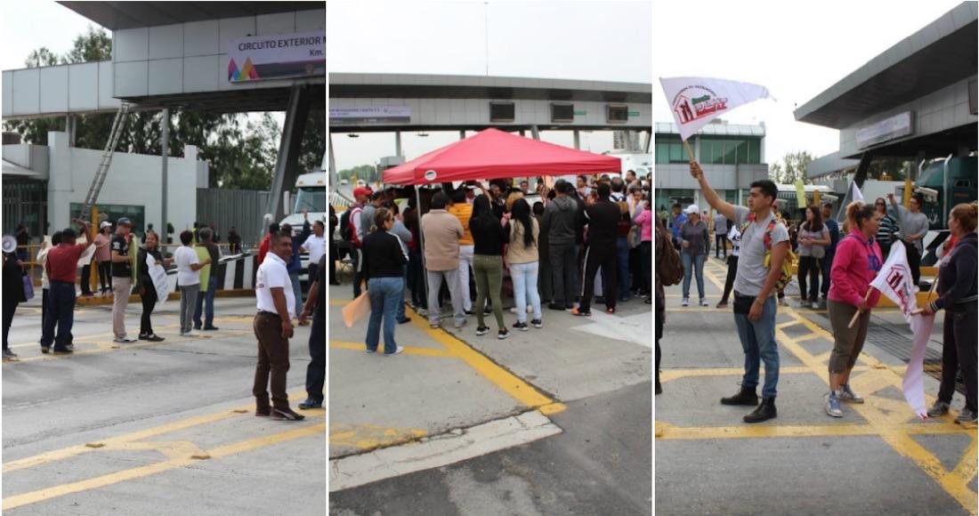 Vecinos de Ecatepec protestan por el alza en el Circuito Exterior Mexiquense y dan paso libre a automovilistas (Estado de México)