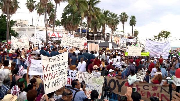 AMLO sin postura ante la minera (Baja California Sur)