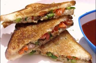 food and recipe curd sandwich