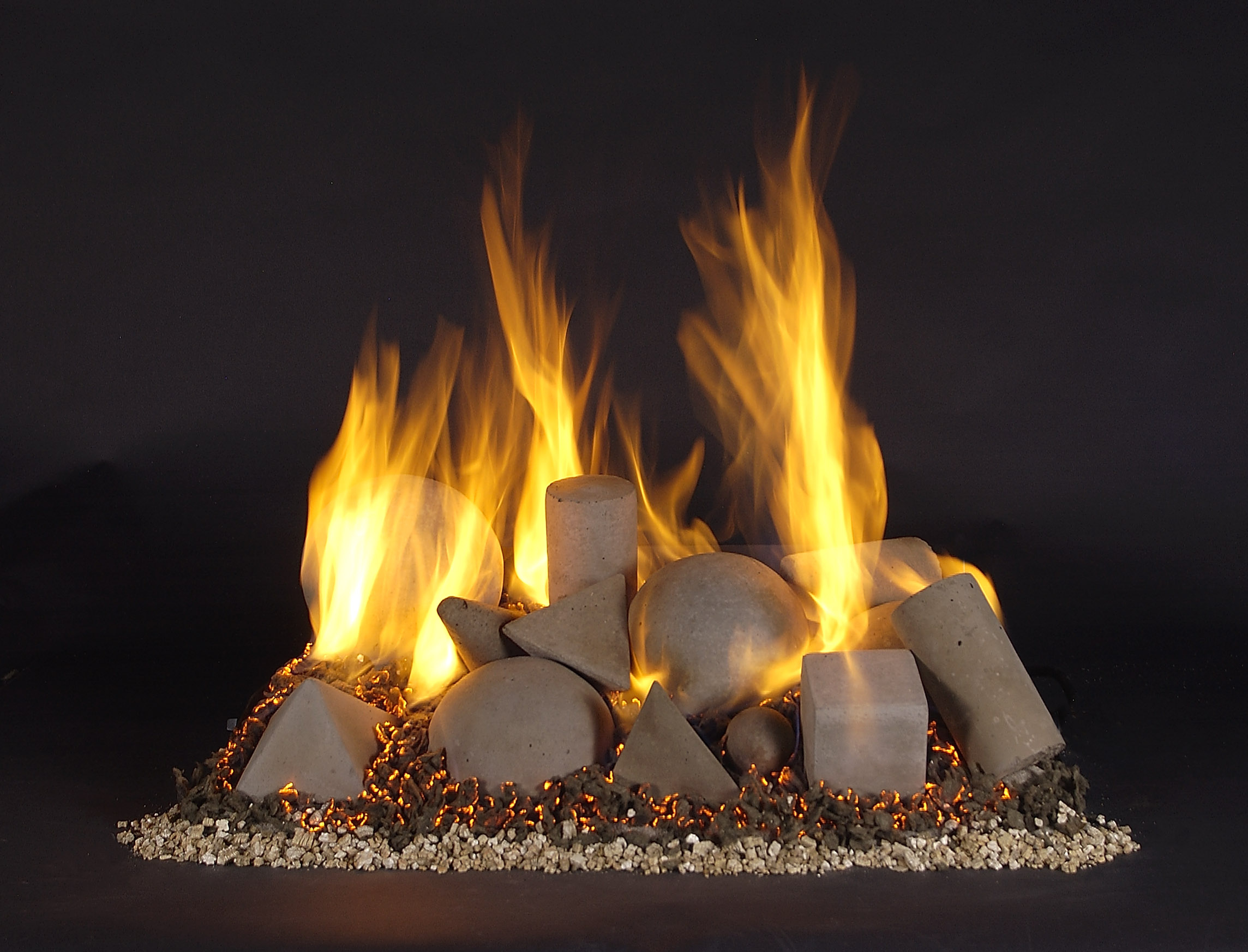 Vented Gas Log Sets With Remote Control