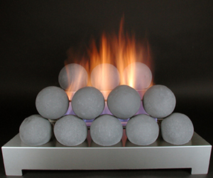 ventless gas fireball fireplace alternative fire shape
