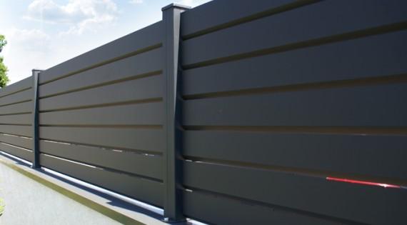cloture brise vue aluminium contemporain