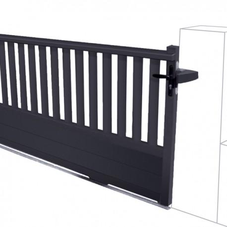 Portail Coulissant Semi Ajoure En Aluminium Moderne Pas Cher
